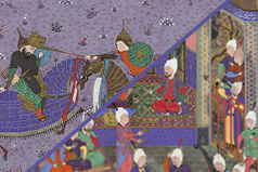 Two folios from the Shahnama of Tahmasp